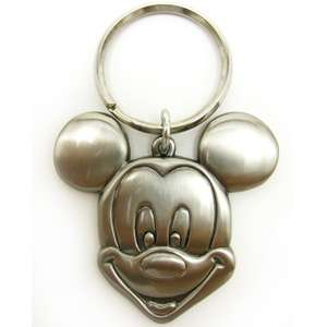 Disney Mickey Smiling Pewter Key Ring Key chain Metal