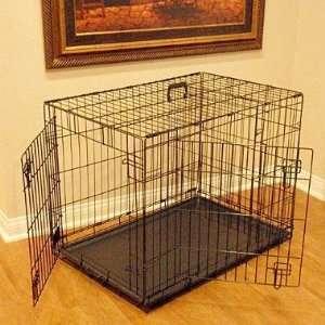 Majestic Double Door Wire Dog Crate 42x30x28