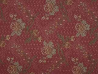 EMBROIDERED BROCADE on DARK PINK Silk Decor Fabric 54 wide units