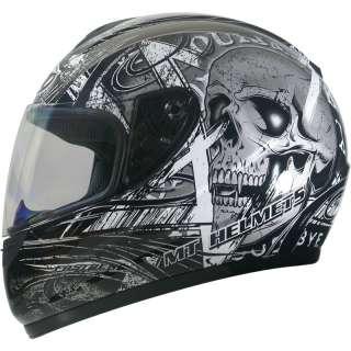 POLYCARBONATE MOTORCYCLE MOTORBIKE FULL FACE BIKE CRASH HELMET