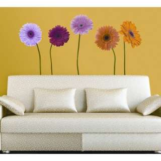Room Mates Gerber Daisies Peel and Stick Wall Decal Decor