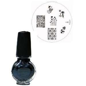Konad Nail Art Set includes Black Pearl Special Polish & Image Plate
