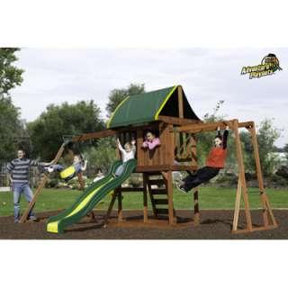 Adventure Playsets Cedar Crest Swing Set Extra Large Fort Cedar Wood