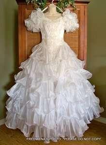 stunning bright white Golden Gate wedding bridal dress gown sz 6