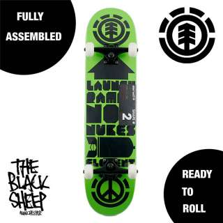 ELEMENT SKATEBOARDS TW LAUNCH RAMPS NOT NUKES COMPLETE 7.5 SKATEBOARD