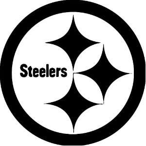 Pittsburgh Steelers NFL Vinyl Decal Stickers / 22 X 22