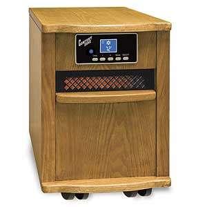 Comfort Zone Heater Oak Infrared Quartz w/ Remote New