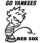 BOY PEEING RED SOX GO YANKEES VINYL CAR STICKER DECAL