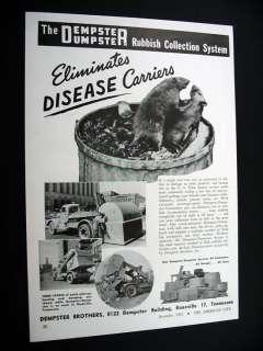 Dempster Dumpster Nashville City garbage truck Rats Ad