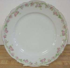 Habsburg China Austria 9 1/2 Replacement Dinner Plate Pink Flowers