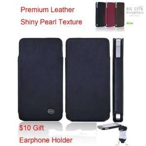 Pear Series + $5 Leather Earphone Holder   Black  : Cell Phones