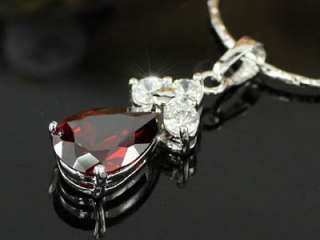 Carats Ruby Dark Red Stone Pendant Necklace SN283