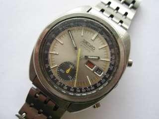 Seiko 6139B automatic chrono gents watch running