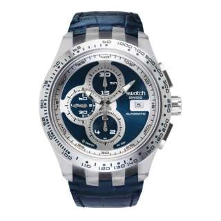 Swatch Irony Chrono Automatic Right Track Blue Dial Mens Watch