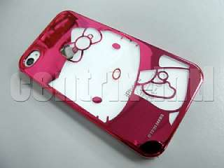 Hello Kitty Hot Pink Chrome Hard Plastic Case for iPhone 4 & 4S