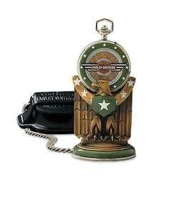 Franklin Mint HARLEY DAVIDSON ~ 1942 WLA MILITARY POCKET WATCH & EAGLE