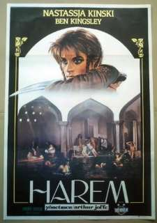 TURKISH MOVIE POSTER HAREM NASTASSJA KINSKI,B.KINGSLEY
