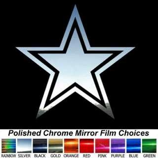 Chrome Cowboys Star 13 inch Decal Window Sticker
