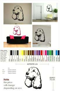 SPRINGER SPANIEL DOG Wall sticker giant tattoo picture print decal