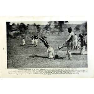 c1920 FLAGELLANT PUNISHMENT PHILIPPINE GIRL WATER POTS
