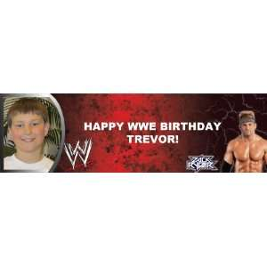 WWE   Zack Ryder Personalized Photo Banner Large 30 x 100